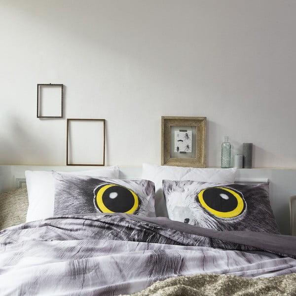 Pościel Owl Look Grey, 140x200 cm