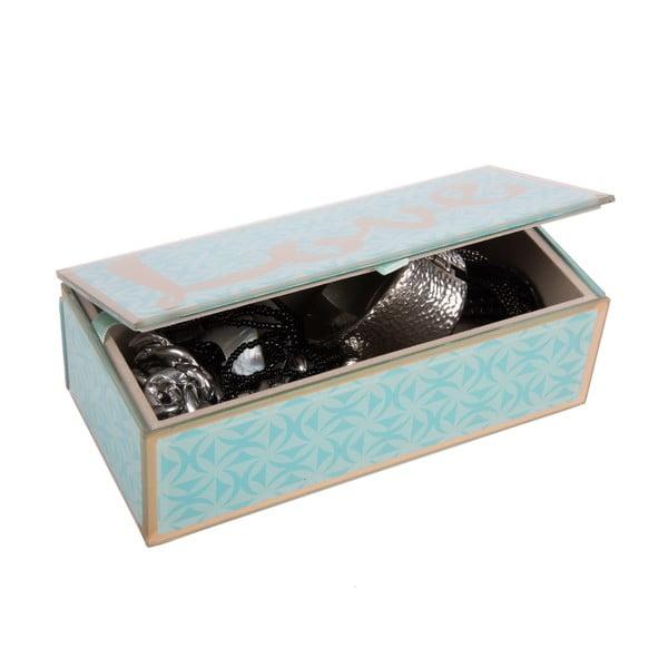Szklana szkatułka na biżuterię Blue Love