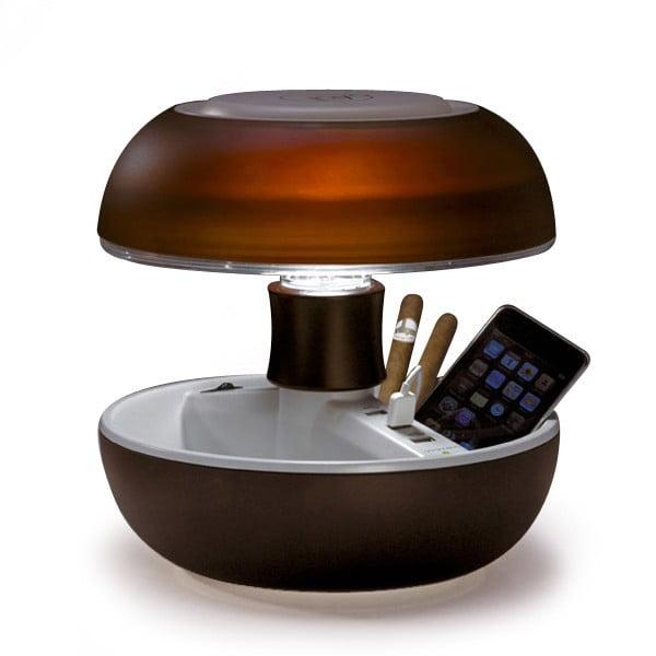 Lampa stołowa i ładowarka w jednym Joyo Light, brązowa