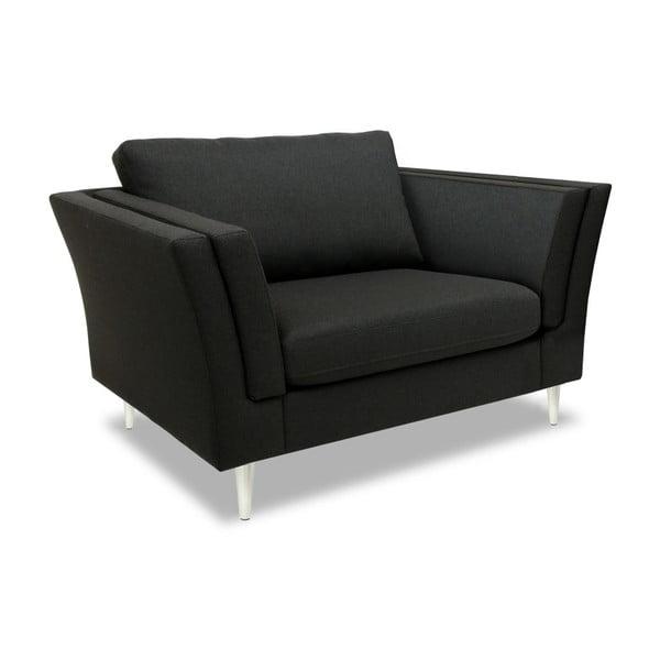Antracytowy fotel Vivonita Connor