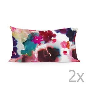 Zestaw 2 poszewek na poduszki Bright Splash Printed, 50x80 cm