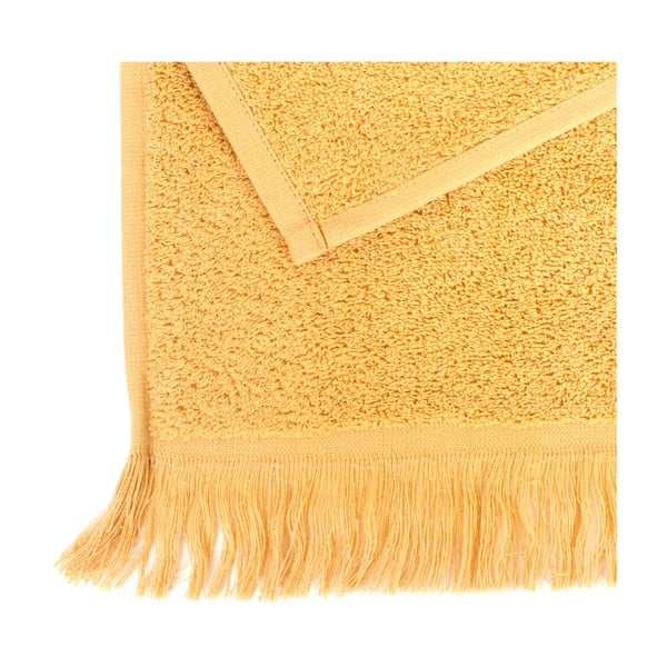 Komplet 6 żółtych ręczników bawełnianych Casa Di Bassi Sun, 30x50 cm