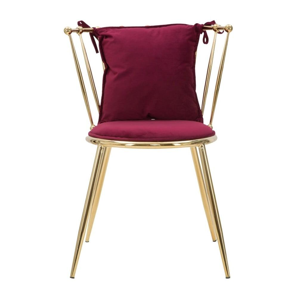 Czerwone krzesło Mauro Ferretti Glam Backy