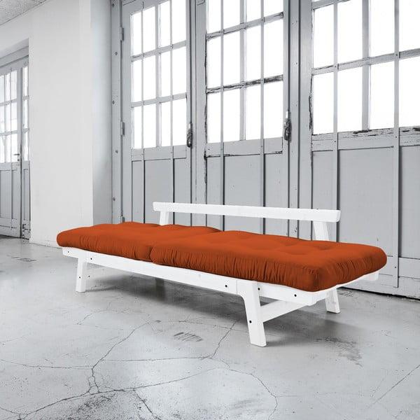 Sofa rozkładana Karup Step White/Orange