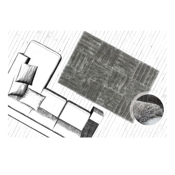 Dywan Solstice 80x150 cm, srebrny