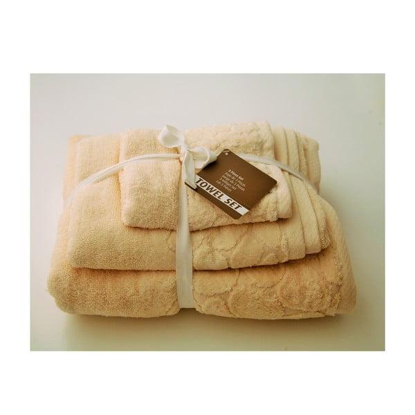 Zestaw 3 ręczników Seixos Natural