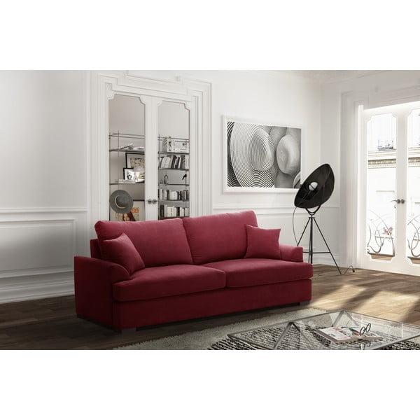 Sofa trzyosobowa Jalouse Maison Irina, czerwona