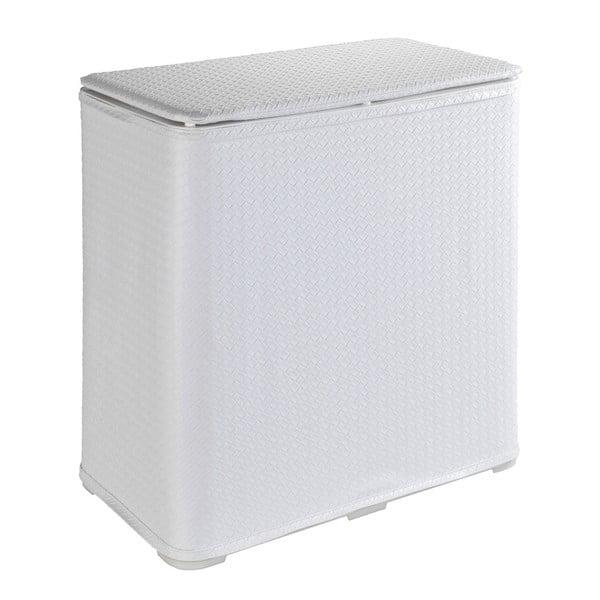 Biały kosz na pranie Wenko Wanda, 65 l