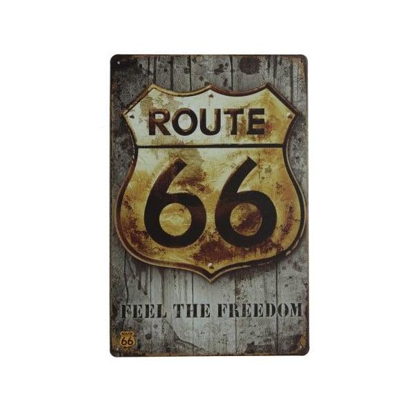 Tablica Route 66 Freedom, 20x30 cm