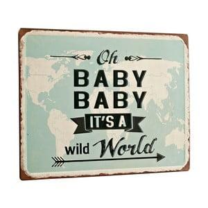 Tablica Oh baby, 26x35 cm