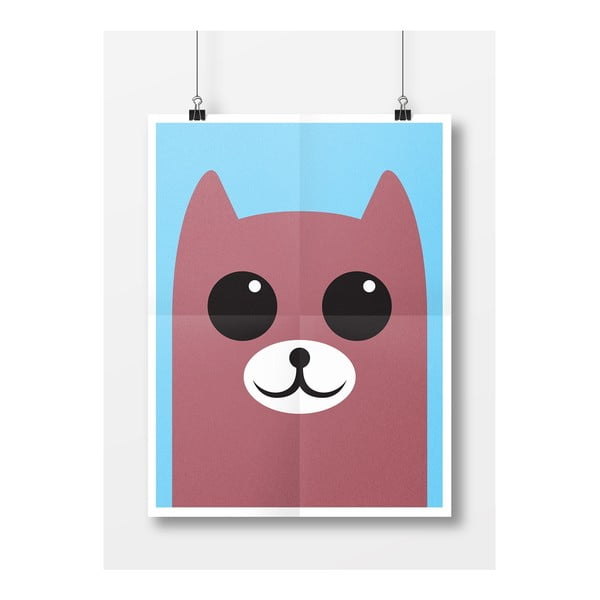 Plakat Niedźwiedź, A3, brązowy