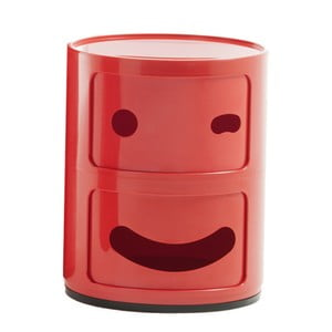 Czerwona szafka z 2 szufladami Kartell Componibili Blink