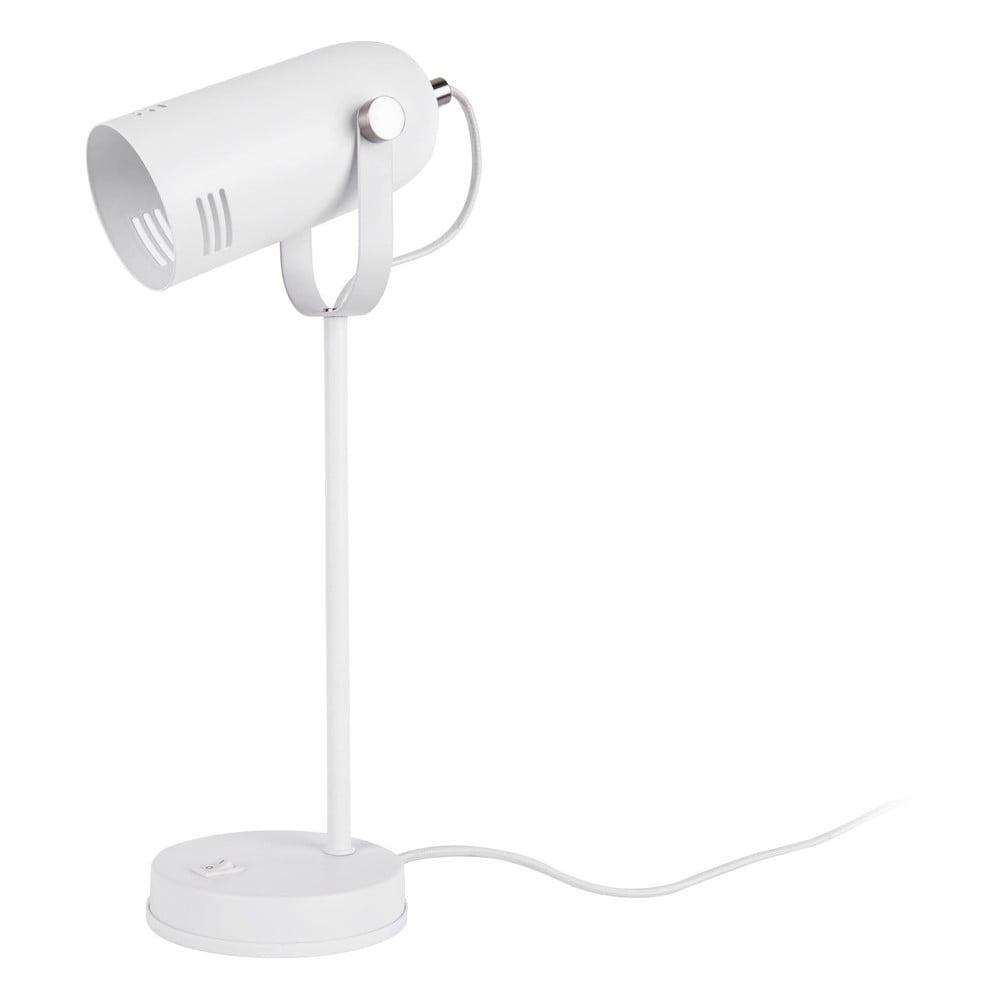 Biała lampa stołowa Leitmotiv Husk