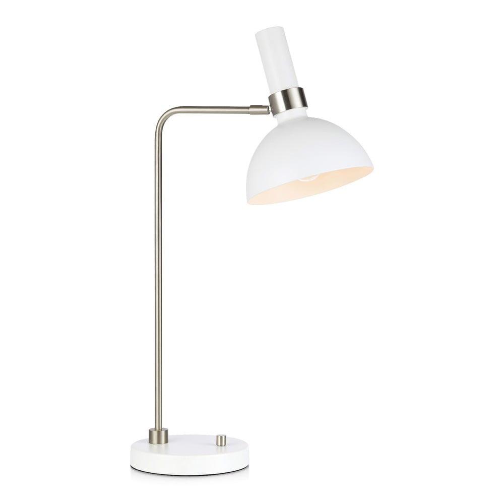 Biała lampa stołowa Markslöjd Larry