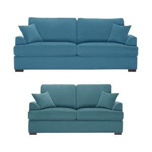 Dwuczęściowy komplet wypoczynkowy Jalouse Maison Irina, niebieski