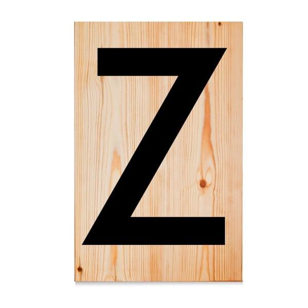 Drewniana tabliczka Letters Z