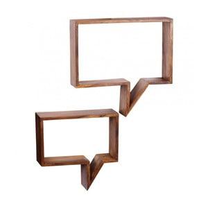 Zestaw 2 półek z litego drewna palisandru Skyport Aida