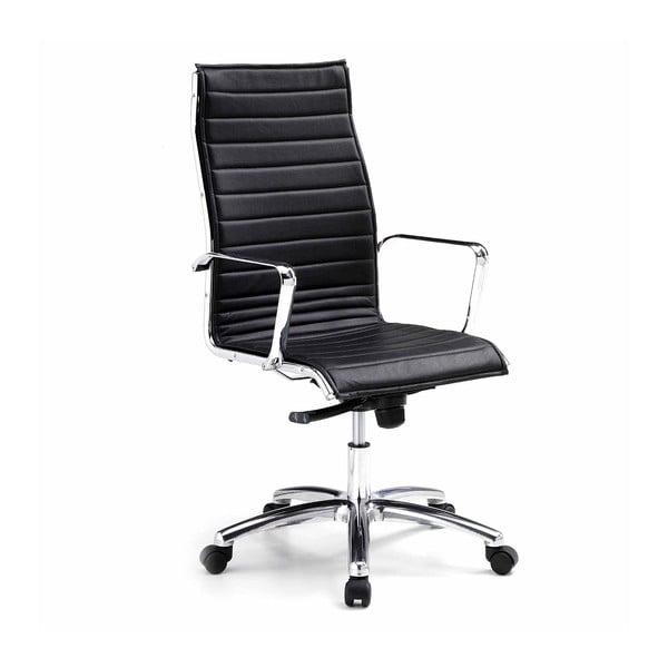 Czarne krzesło biurowe na kółkach High Chrono Zago