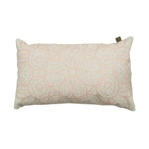 Poduszka Overseas Lace White/Blush, 30x50 cm