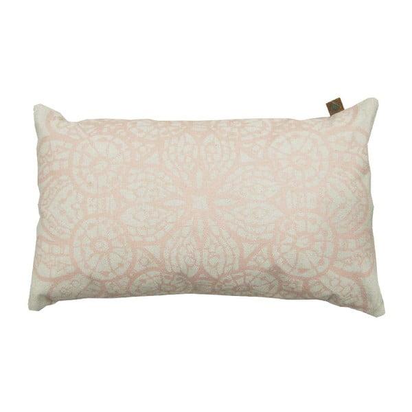 Kremowa poduszka Overseas Lace, 30x50 cm