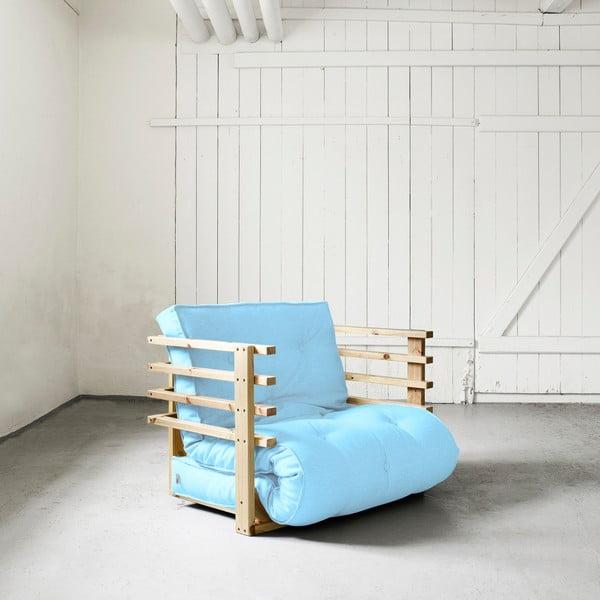 Fotel rozkładany Karup Funk Natural/Celeste