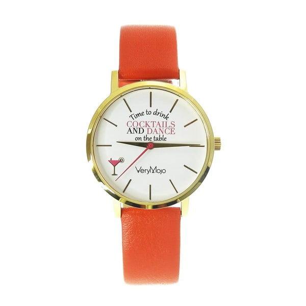 Zegarek VeryMojo Time To Drink, pomarańczowy
