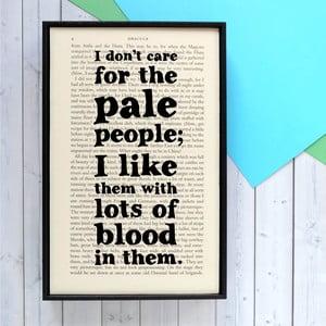Plakat w   drewnianej ramie Dracula Pale