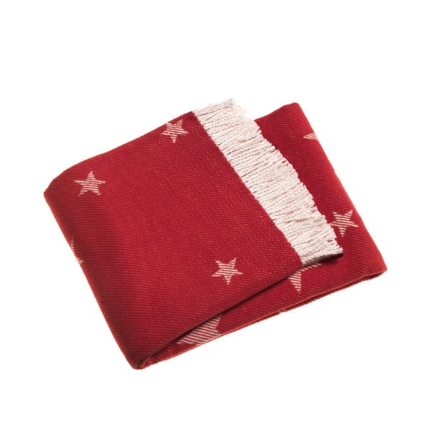 Koc Stars 140x180 cm, czerwony