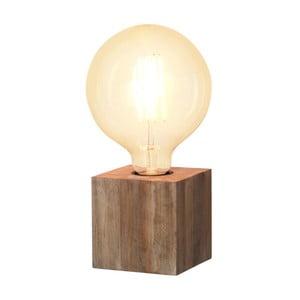 Drewniana lampa stołowa w naturalnym kolorze Best Season Kub