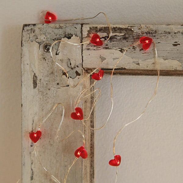 Świecący łańcuch LED Best Season Hearts, 110 cm