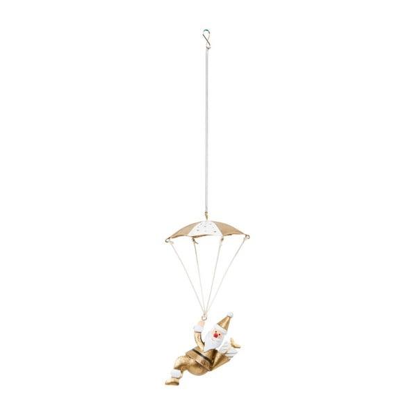 Dekoracja wisząca Archipelago Gold Santa Parachute Spring, 25 cm