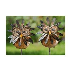 Komplet 2 dekoracji ogrodowych Owl, 138 cm