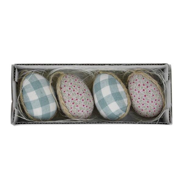 Zestaw 4 jajek dekoracyjnych, 19x5 cm