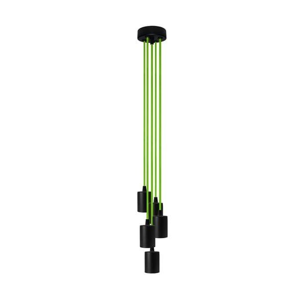 Pięć wiszących kabli Cero, zielone/czarne