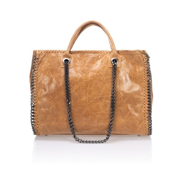 Skórzana torebka Markese 1169 Cognac
