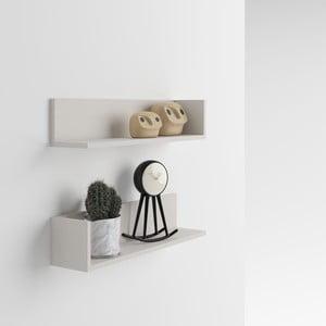 Zestaw 2 półek z dekorem jasnego drewna jesionu MobiliFiver Menaci