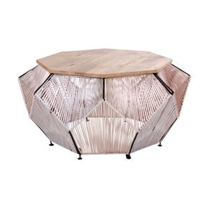 Stolik z blatem z drewna mangowego House Nordic Akola