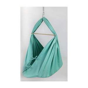 Miętowa kołyska/hamak z bawełny zawieszana na futrynę Hojdavak Baby XL (0-9 miesięcy)