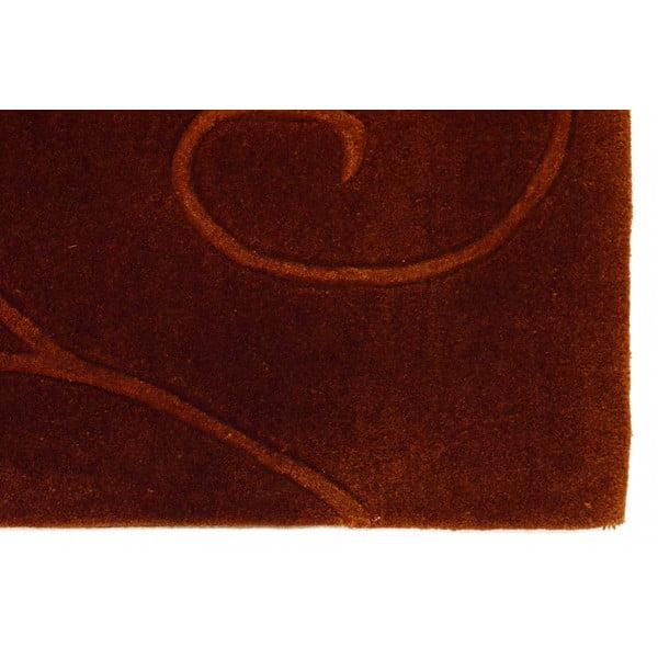 Dywan ręcznie tkany Tufting, 170x240 cm, czekoladowy