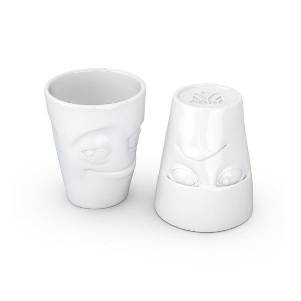 Zestaw 2 białych kubków z porcelany 58products