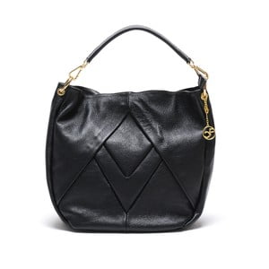 Skórzana torebka Fila, czarna