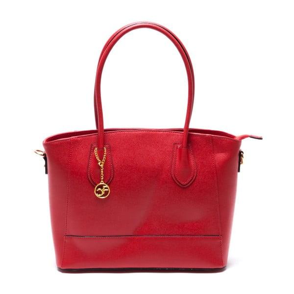 Skórzana torebka Carla Ferreri 443 Rosso