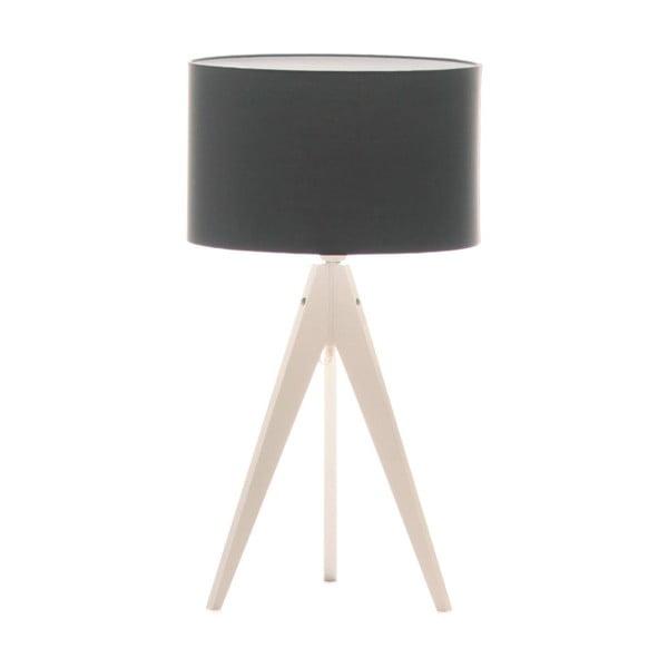 Czarna lampa stołowa 4room Artist, biała lakierowana brzoza, Ø 33 cm