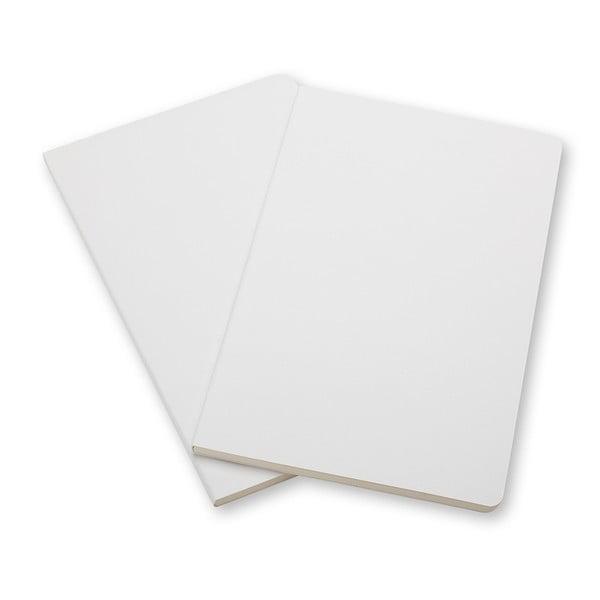 Zestaw 2 notesów  Moleskine White, w linie 13x21 cm