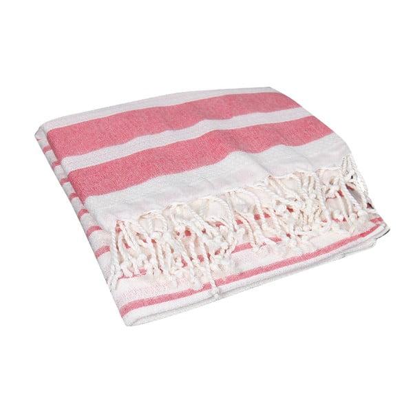 Czerwony ręcznik hammam Aqua Red, 90x190cm