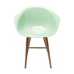 Jasnozielone krzesło z podłokietnikami Kare Design Forum