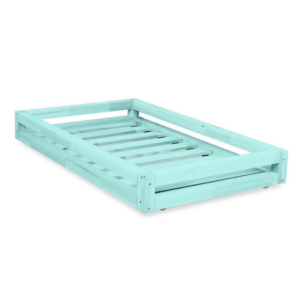 Komplet Niebieskiej Szuflady Pod łóżko I 4 Dodatkowych Nóg Benlemi Do łóżka 120x200 Cm Bonami