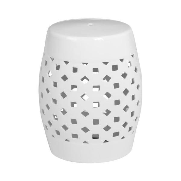 Stołek ceramiczny Complements Stool, biały