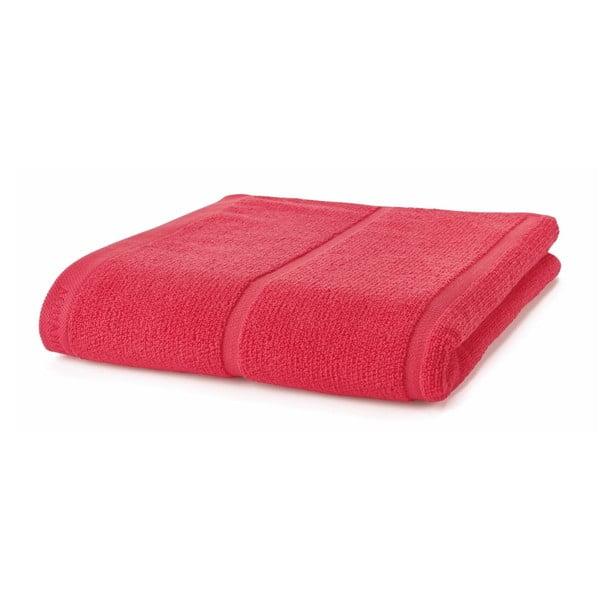 Koralowo-czerwony ręcznik Aquanova Adagio, 70x130 cm