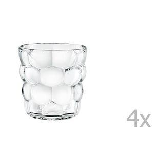 Komplet 4 niskich szklanek ze szkła kryształowego Nachtmann Bubbles, 240 ml